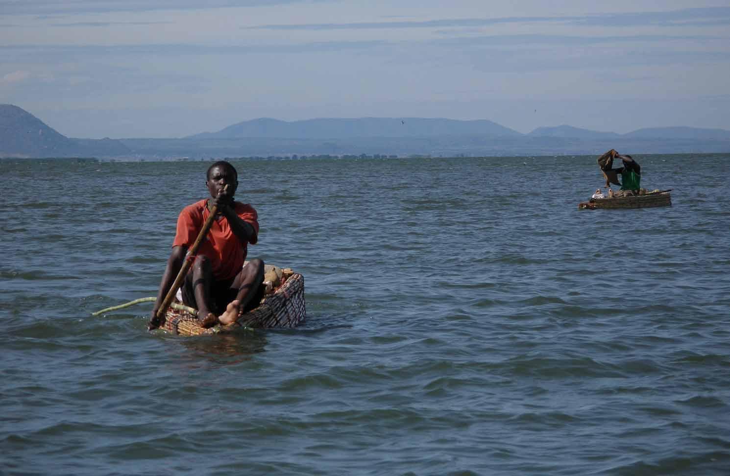 lVisser op Lake Victoria bij Lamadai
