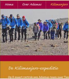 Een Kilimanjaro sponsor beklimming voor Adamas
