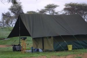 Klassieke safari tent