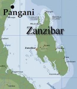 Zanzibar Pangani map