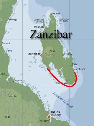 Zanzibar zuidkust