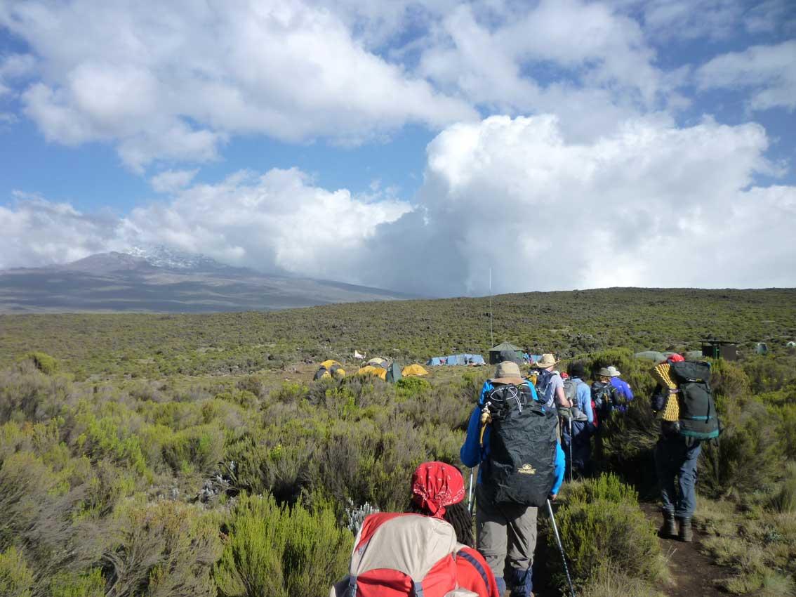 Shira 1 campsite op het Shira plateau