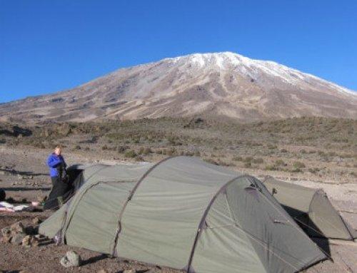 Maakt dat iets uit, een grotere slaaptent bij een Kilimanjaro beklimming?