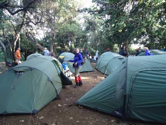 Kilimanjaro beklimming dag 1 Forest camp
