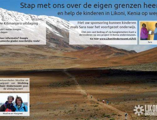 Sponsor Kilimanjaro beklimming Stichting Likoni