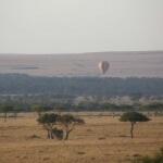 Masai Mara ballonnen boven de Mara rivier