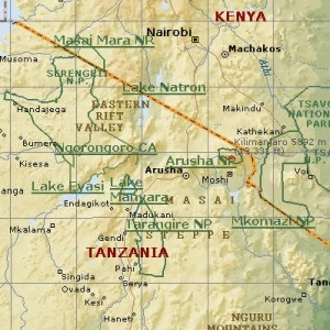 Parken noord Tanzania