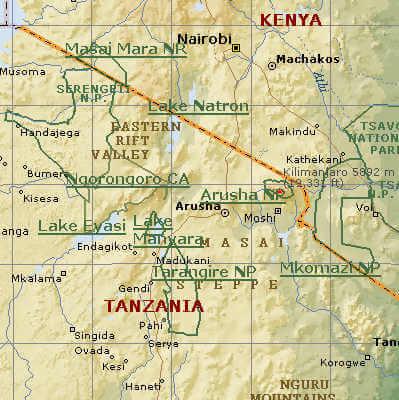 noordelijke parken tanzania