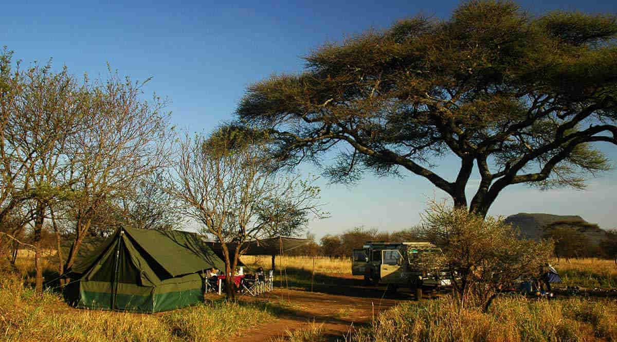 Special campsite, Serengeti, Tanzania