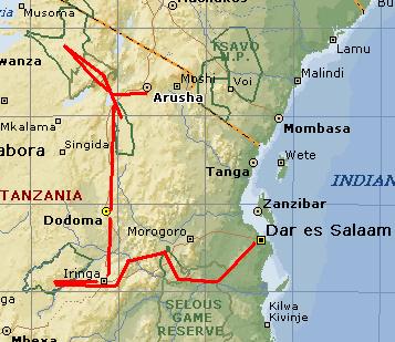 Tanzania van Arusha tot Selous